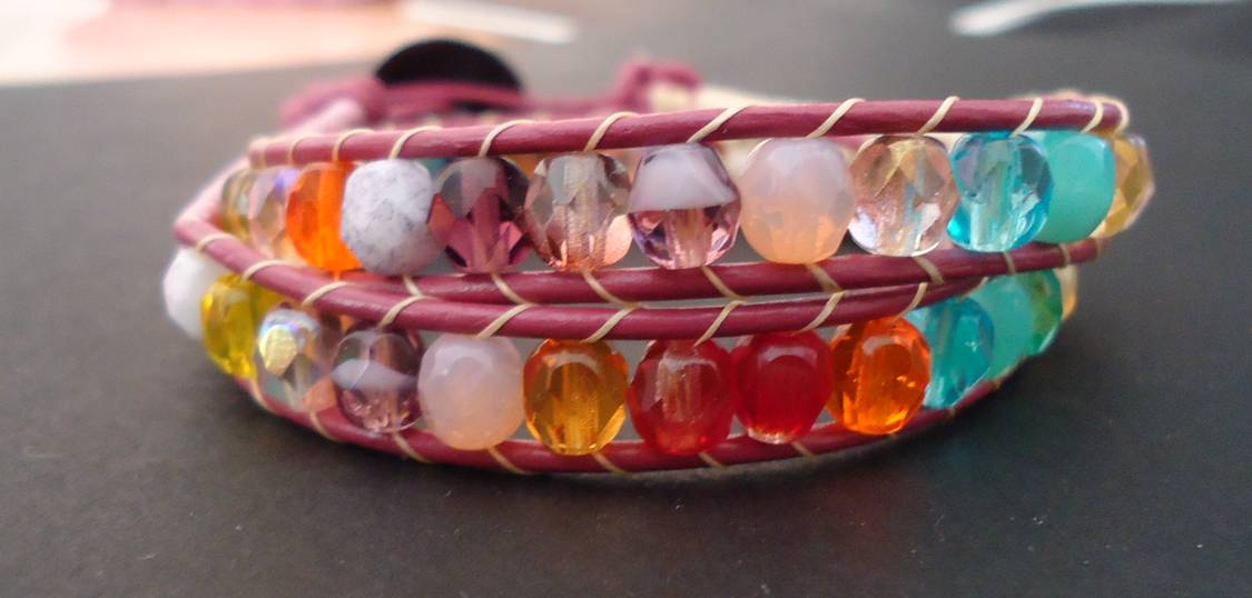 Herringbone color bracelet