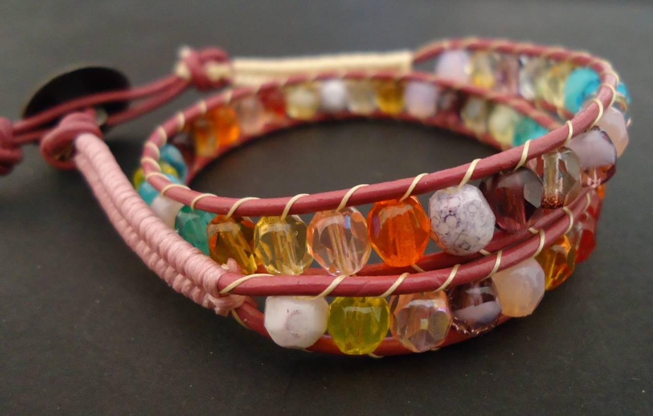 Herringbone color bracelet
