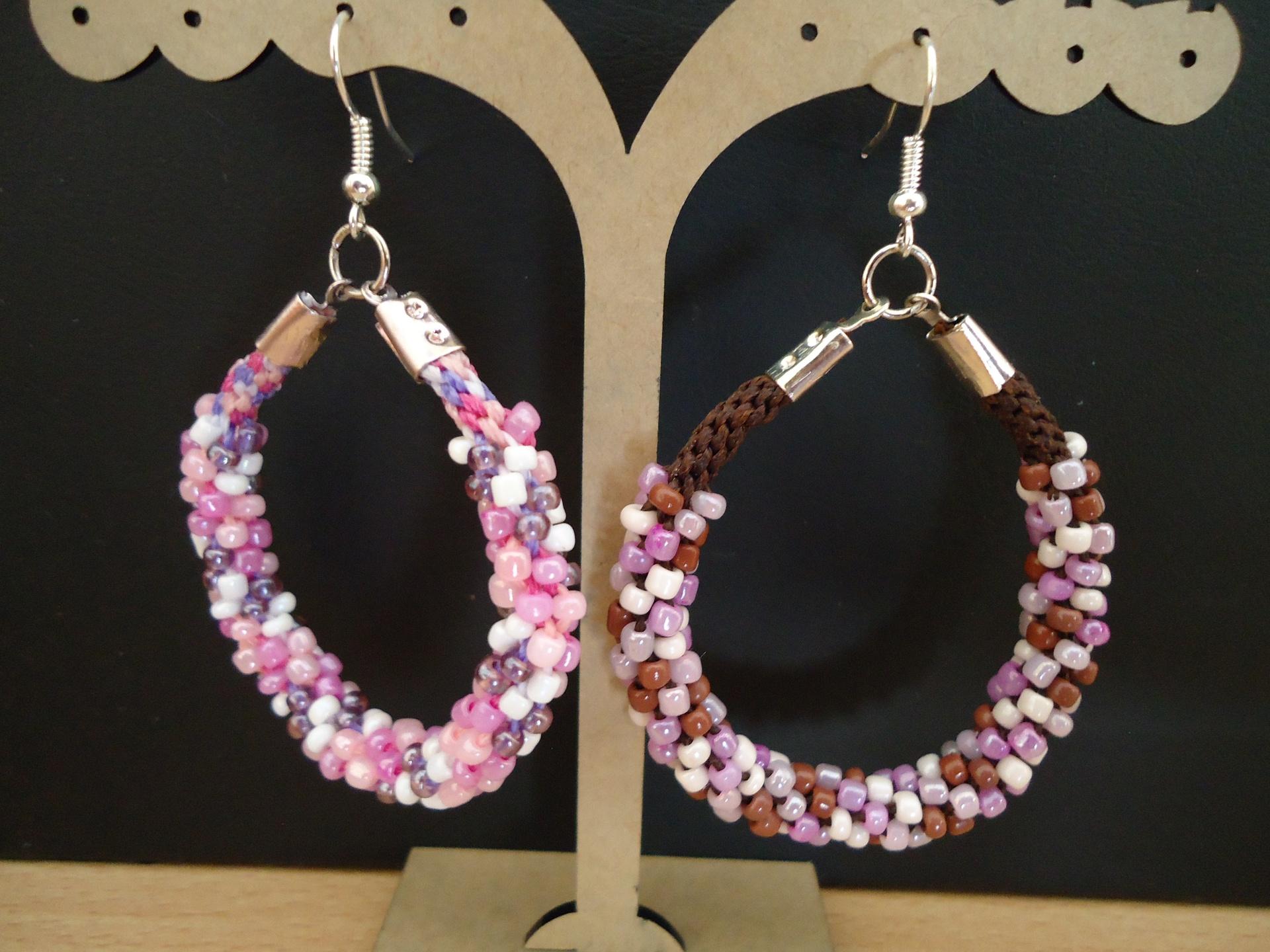 Kumihimo braided earrings (4 colors)