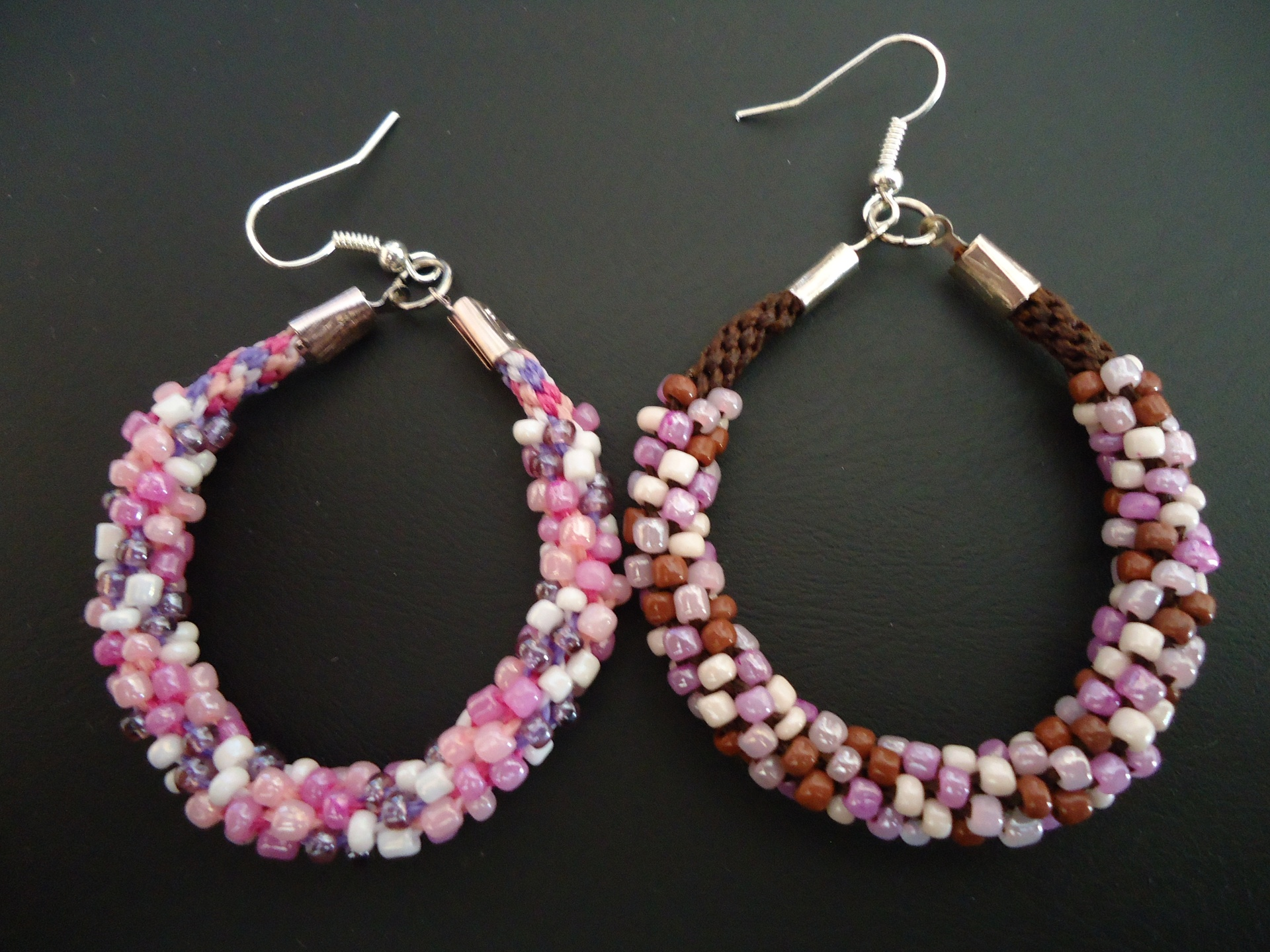 Kumihimo braided earrings (4 colors)
